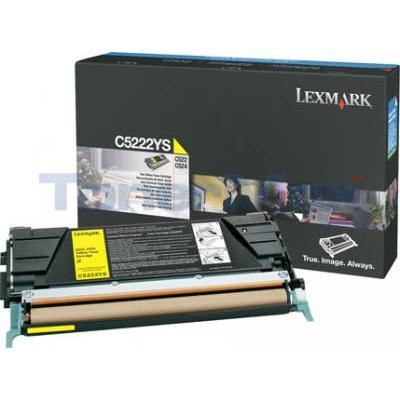 LEXMARK C524 TONER CARTRIDGE YELLOW 3K